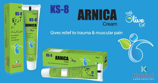 KS 8 ARNICA Cream (With Olive Oil)