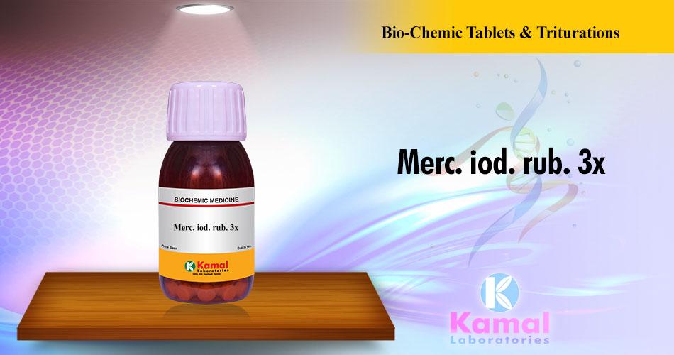 Merc. Iod. Rub. 3x (500gm Dextrose base)