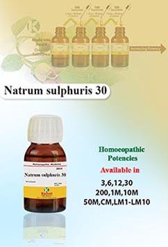 Natrum sulphuris
